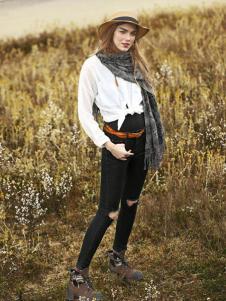 丹尼布鲁秋季黑色时尚打底裤新款