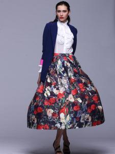 曼维尔女装2016新款印花连衣裙