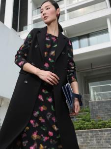 玳莎冬季黑色长款马甲外套正品