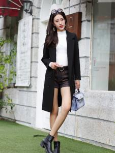 卡茵琪秋冬黑色时尚外套现货