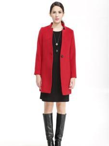 维娜红色大衣