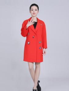 武汉惠品红色时尚大衣新品