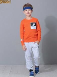 朋库一代童装2016新品橙色卫衣
