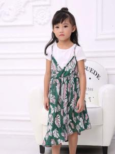 彩虹森林童装2016新品吊带裙