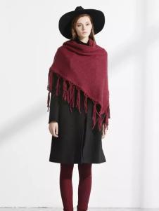 迪斯廷凯冬季修身长款毛呢大衣