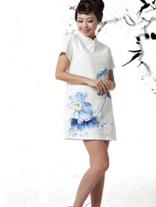 木棉道印花旗袍