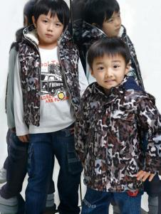 小豐龍童裝男童豹紋外套
