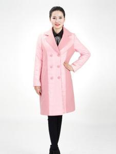 武汉惠品冬季粉红时尚外套现货