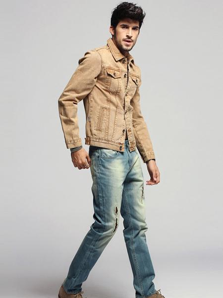 美酷思新款欧版简约男士牛仔裤