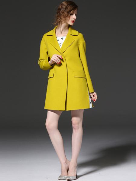 优尚美黄色A字版外套