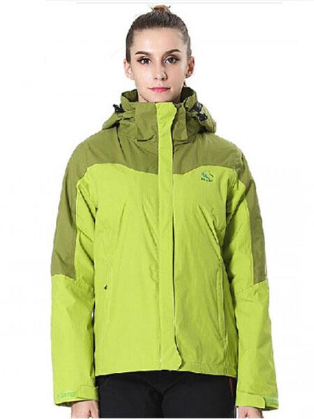 极星女士绿色运动衣