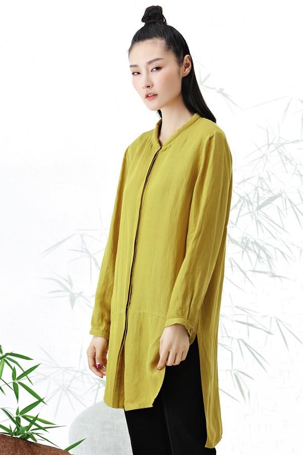 衣甸女装2016秋冬新品长款衬衫 款号267126