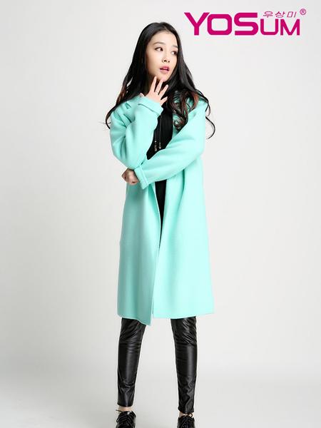 YOSUM绿色韩版时尚大衣