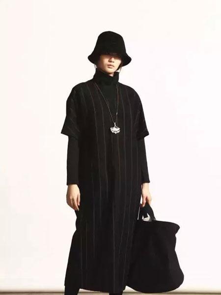 柯妮丝麗秋季条纹长款大衣