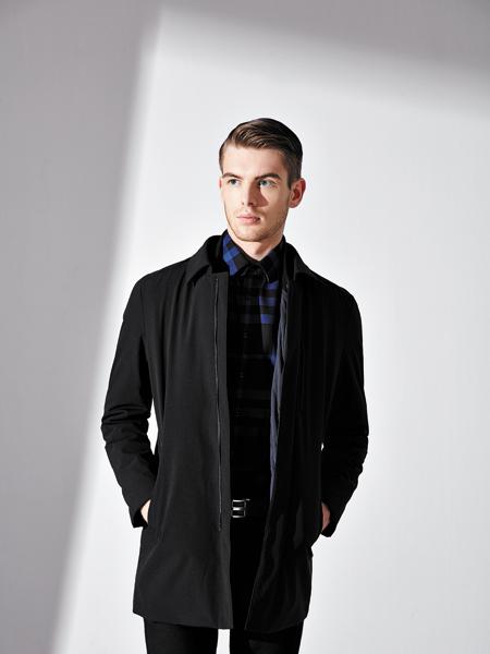 法拉狄奥黑色长款外套专卖