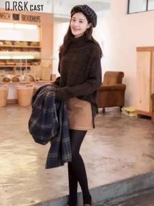 Q.R&K CAST2016秋冬新品高领毛衣