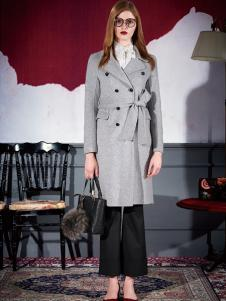 米祖女士双排扣气质大衣