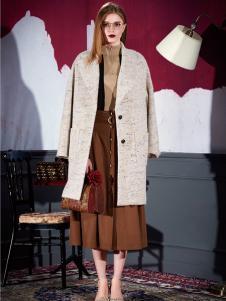 米祖女士长款修身大衣