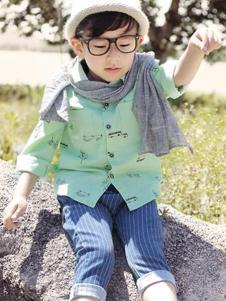 可爱100童装卡通印花衬衫