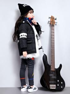 玛玛米雅女童黑色羽绒服