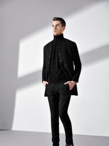 法拉狄奥黑色时尚绅士外套
