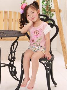 Barock&Schnee童装粉色短袖