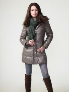 GR&CF歌瑞丝芬女装灰色长款羽绒服