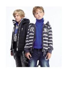 纽约男孩童装条纹外套