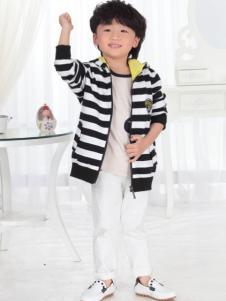 一休童装2016新品条纹外套