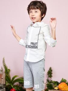 poipoilu男童白色衬衫