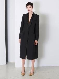 Balenciaga 2016新品黑色长款大衣
