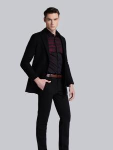 贝克狮丹黑色休闲西装