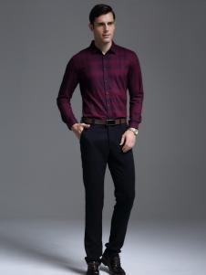 凯帝龙驰红色修身衬衫