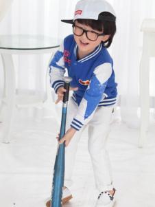 一休童装2016新品棒球外套