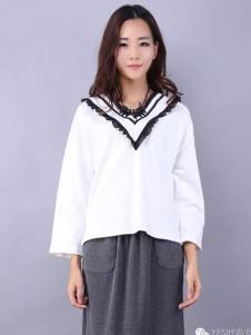 YES女装白色宽松T恤