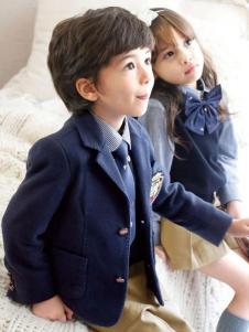 明日之星幼儿园园服2016新品蓝色套装