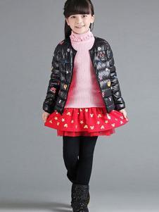 米奇米妮童装秋冬新品女童棉衣