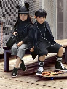 JOJO童装2016秋冬新品黑色长款上衣