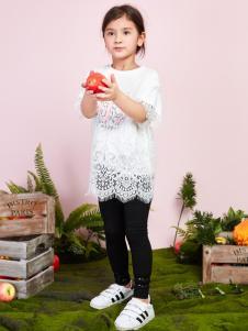 poipoilu2017女童白色T恤