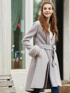 香影灰色宽松欧版大衣