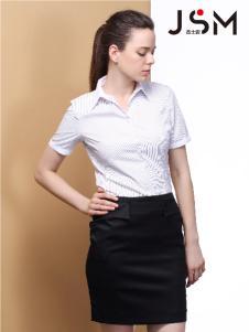JSM杰士迈新款女士短袖衬衫