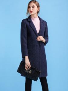 淑女日记女士长款修身大衣