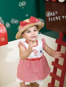 雅培孕婴童装红色蓬蓬裙