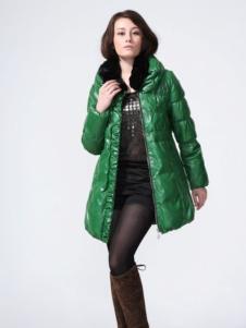 GR&CF歌瑞丝芬女装绿色羽绒服