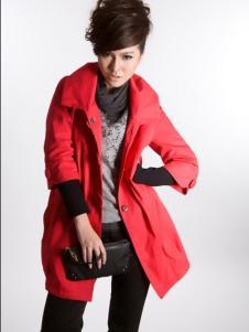 十年红女装红色外套