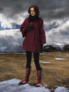 阁兰秀女装格子外套