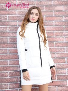 容悦女装2016秋冬新品白色羽绒服