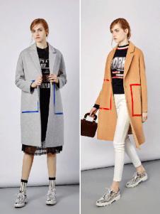 钡禾冬季时尚长款瘦身大衣
