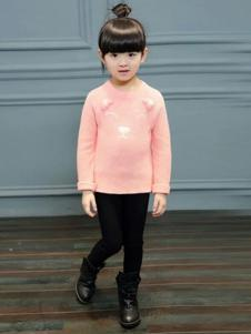 库克努比童装2016新品女童粉色上衣