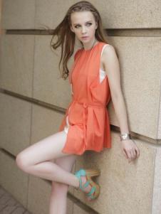 凯迪·米拉女装橙色长款上衣